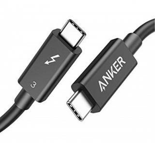 Anker USB-C&USB-C Thunderbolt 3 ケーブル 0.7m ブラック