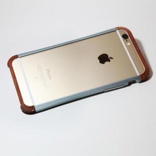 【iPhone6ケース】アルミとウッドバンパー i+CASE CRAFT チタニウム iPhone 6バンパー_1
