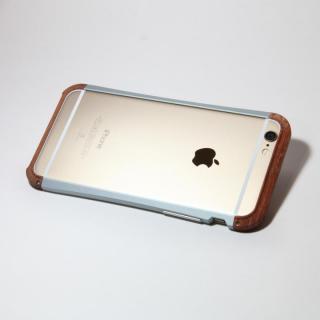 【iPhone6ケース】アルミとウッドバンパー i+CASE CRAFT チタニウム iPhone 6バンパー_2