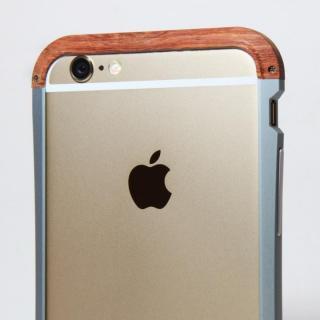 【iPhone6ケース】アルミとウッドバンパー i+CASE CRAFT チタニウム iPhone 6バンパー_4