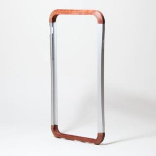 【iPhone6ケース】アルミとウッドバンパー i+CASE CRAFT シルバー iPhone 6バンパー_1