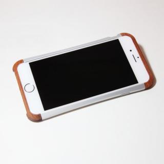 【iPhone6ケース】アルミとウッドバンパー i+CASE CRAFT シルバー iPhone 6バンパー_2