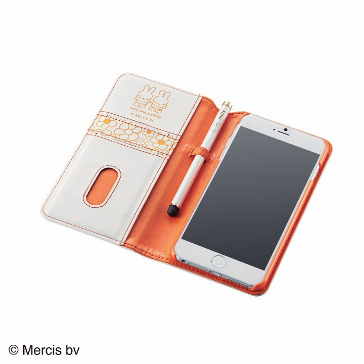 iPhone6 Plus ケース ミッフィー ソフトレザー手帳型ケース ミッフィー iPhone 6 Plusケース_0