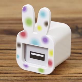 iMarker うさぎ(カラフル)|Apple 純正ACチャージャー用カバー