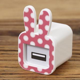 iMarker うさぎ(ピンク)|Apple 純正ACチャージャー用カバー