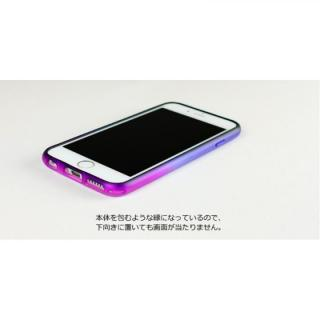【iPhone6ケース】鮮やかなカラーリング 染 ソフトバンパー 虹 iPhone 6バンパー_2