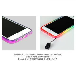 【iPhone6ケース】鮮やかなカラーリング 染 ソフトバンパー 虹 iPhone 6バンパー_3