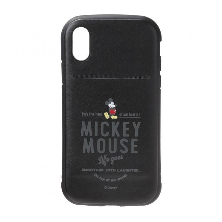 iPhone XS/X ケース Premium Style タフポケットケース ミッキーマウス/ブラック iPhone XS/X_0