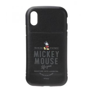 【iPhone XS/Xケース】Premium Style タフポケットケース ミッキーマウス/ブラック iPhone XS/X