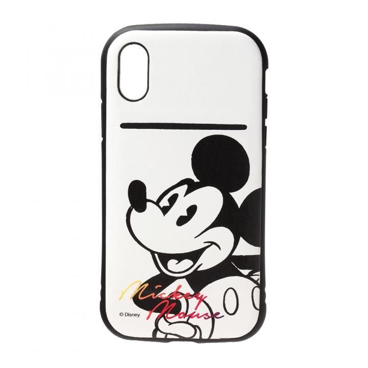 iPhone XS/X ケース Premium Style タフポケットケース ミッキーマウス/ホワイト iPhone XS/X_0
