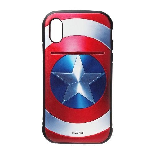 iPhone XS/X ケース Premium Style タフポケットケース キャプテン・アメリカ iPhone XS/X_0