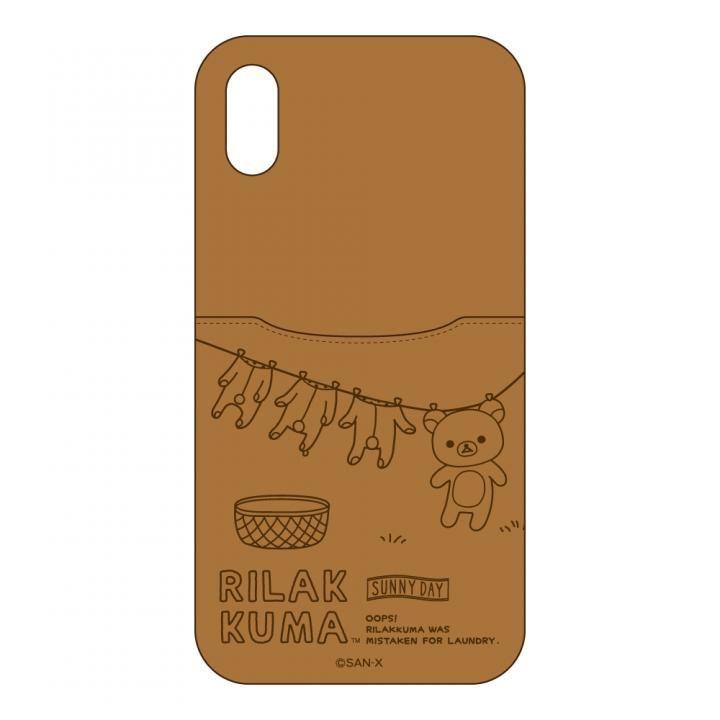 サンエックスコレクション ハードケースポケット付き リラックマ/カジュアル iPhone X
