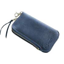 【iPhone6ケース】革工房パーリィ フィンランド産鹿革ジッパー付きケース ブラック iPhone 6ケース