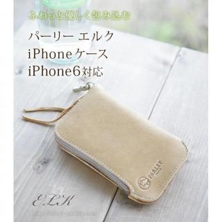【iPhone6ケース】革工房パーリィ フィンランド産鹿革ジッパー付きケース レッド iPhone 6ケース_1