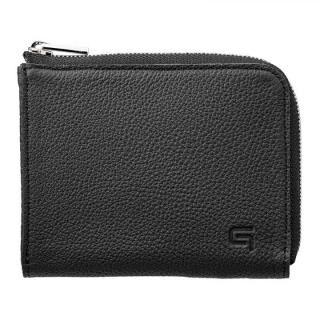 German Shrunken-calf L Shaped Zipper mini Wallet Ver.2 BLK