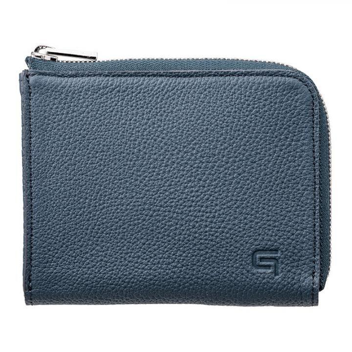 German Shrunken-calf L Shaped Zipper mini Wallet Ver.2 NVY_0