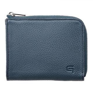 German Shrunken-calf L Shaped Zipper mini Wallet Ver.2 NVY