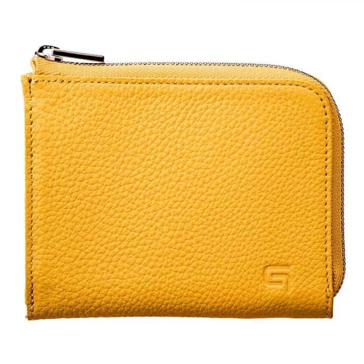 German Shrunken-calf L Shaped Zipper mini Wallet Ver.2 YLW_0