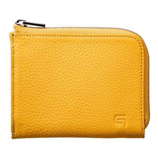German Shrunken-calf L Shaped Zipper mini Wallet Ver.2 YLW