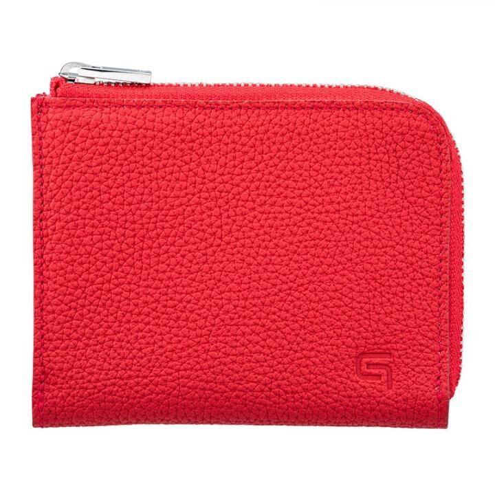 German Shrunken-calf L Shaped Zipper mini Wallet Ver.2 RED_0