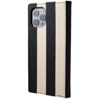 iPhone 11 Pro/XS ケース Shrunken-calf Leather 手帳型ケース SAPEUR BWB iPhone 11 Pro/XS/X