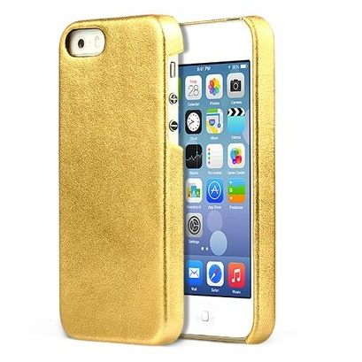【iPhone SE/5s/5ケース】ZENUS iPhone SE/5s/5 レザー手帳型ケース 本革 ゴールド_0