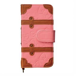 ハローキティ iPhone SE/5s/5/5c 手帳型ケース リボン柄