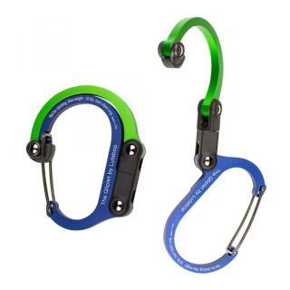 カラビナ型フック クリプレット ブルー/グリーン