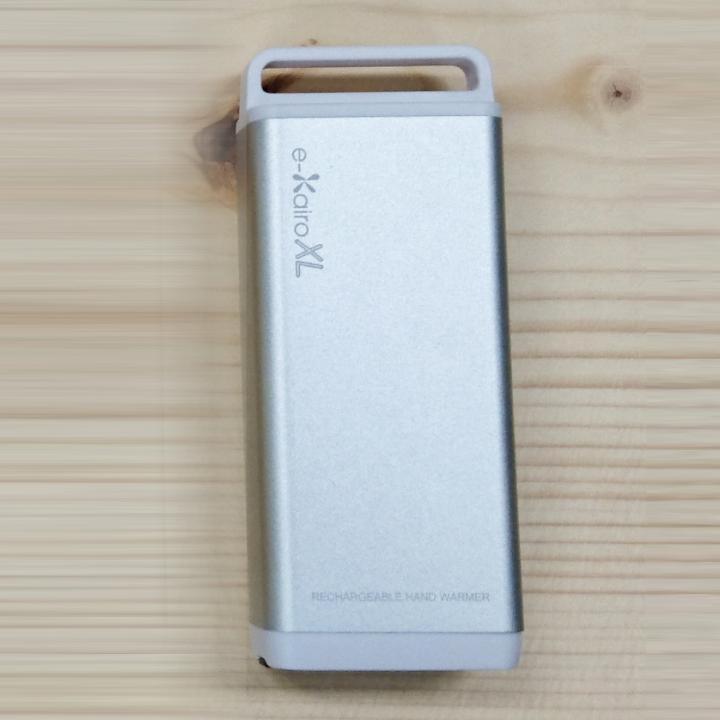 [4400mAh]充電式カイロ/モバイルバッテリー e-Kairo XL シルバー