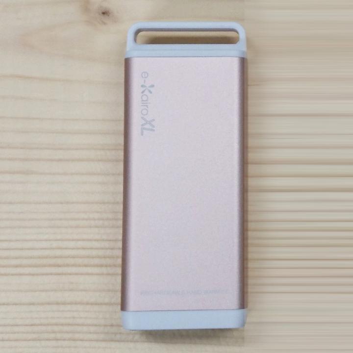 [4400mAh]充電式カイロ/モバイルバッテリー e-Kairo XL ピンクゴールド_0