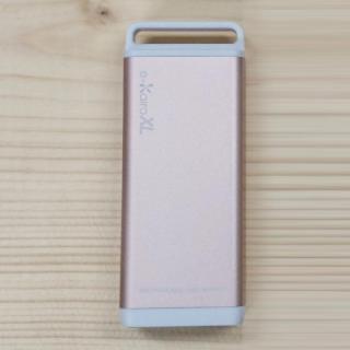[4400mAh]充電式カイロ/モバイルバッテリー e-Kairo XL ピンクゴールド