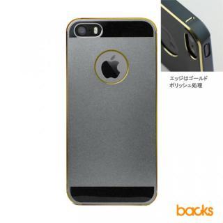 【iPhone SE/5s/5】ibacks Essence / スペースグレイ(ゴールドエッジ)