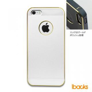 【iPhone SE/5s/5】ibacks Essence / シルバー(ゴールドエッジ)