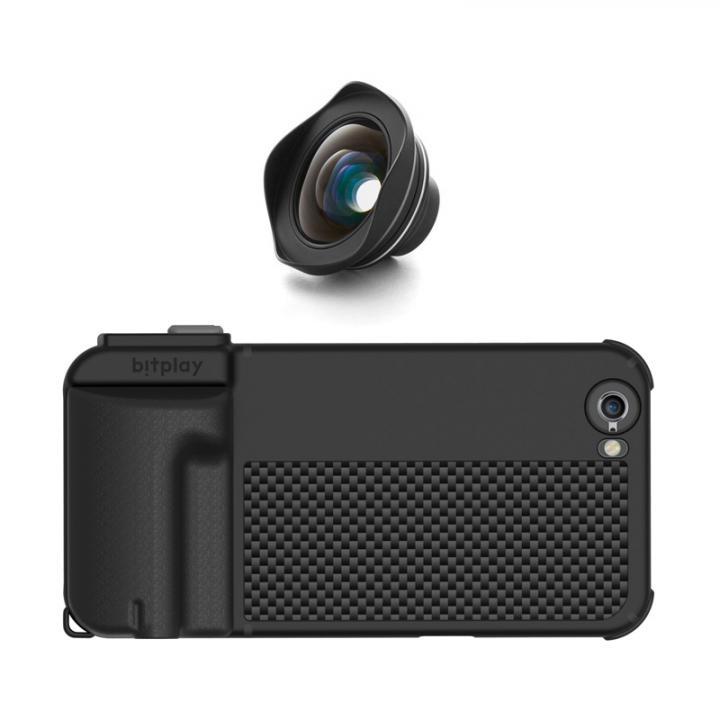 iPhone6s/6 ケース SNAP! PRO 物理シャッターボタン搭載ケース + HDワイドアングルレンズ EF 18mm ブラック_0
