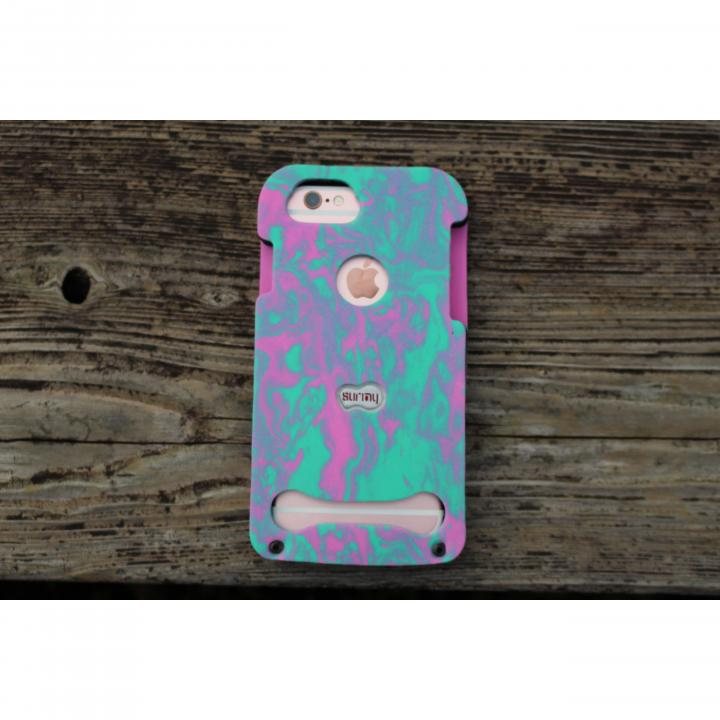 【iPhone7/6s/6ケース】EVA素材フルボディケース SURMY ピンク/グリーン iPhone 7/6s/6_0