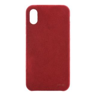 【iPhone Xケース】パワーサポート Ultrasuede Air jacket レッド iPhone X