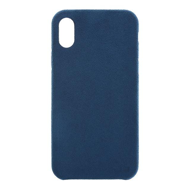 【iPhone Xケース】パワーサポート Ultrasuede Air jacket ブルー iPhone X_0