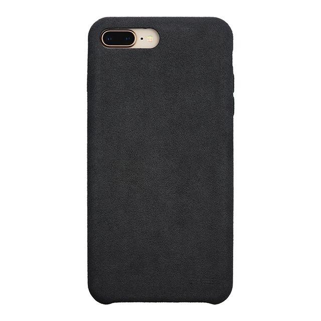 【iPhone8 Plus/7 Plusケース】パワーサポート Ultrasuede Air jacket アスファルト iPhone 8 Plus/7 Plus_0