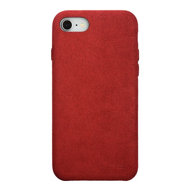 iPhone8/7 ケース パワーサポート Ultrasuede Air jacket レッド iPhone 8/7_0