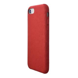 【iPhone8/7ケース】パワーサポート Ultrasuede Air jacket レッド iPhone 8/7_1