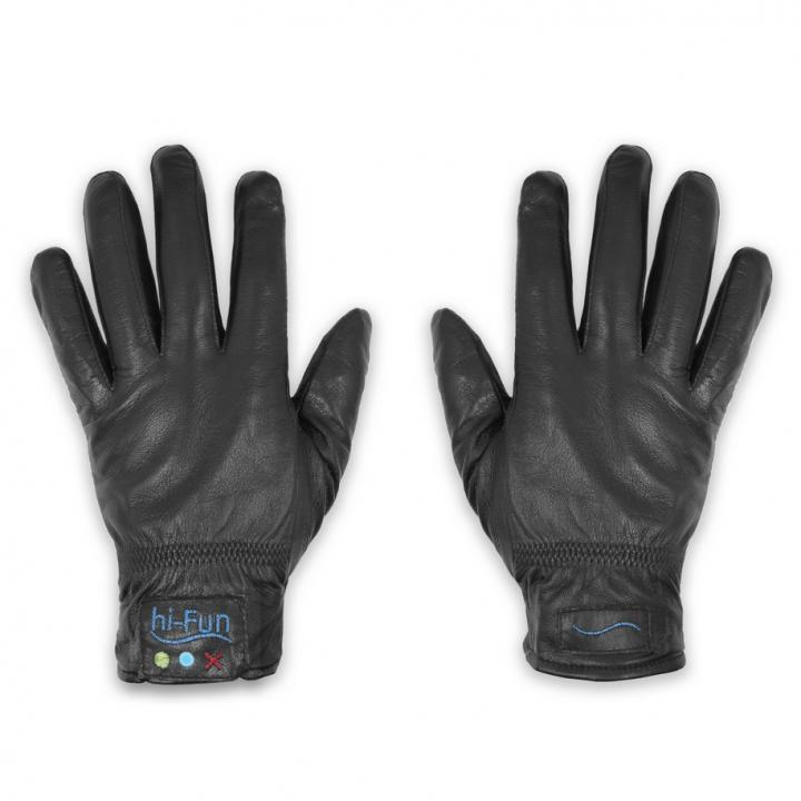 Hi-Call Convenient Talking Magic Glove Leather 男性用サイズXL黒_0