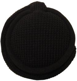 MaR●MaR 4WAYイヤーマフHP付ニット編み ブラック