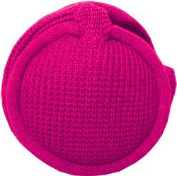 MaR●MaR 4WAYイヤーマフHP付ニット編み ピンク
