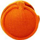 MaR●MaR 4WAYイヤーマフHP付ニット編み オレンジ