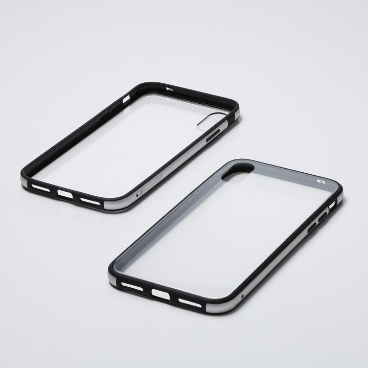 iPhone XS/X ケース Deff Hybrid Case Etanze クリアシルバー iPhone XS/X_0