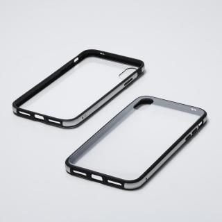 iPhone XS/X ケース Deff Hybrid Case Etanze クリアシルバー iPhone XS/X