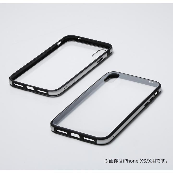 【iPhone XRケース】Deff Hybrid Case Etanze クリアシルバー iPhone XR【12月下旬】_0