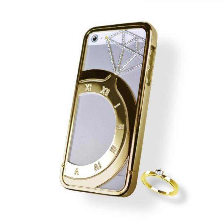 iPhone SE/5s/5 ケース iPhone SE/5s/5ジュエリーケース ゴールド_0