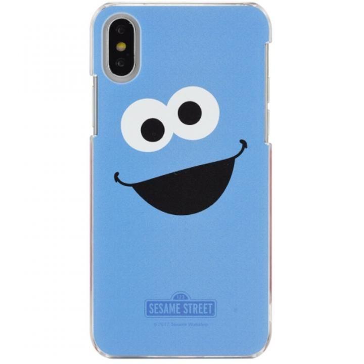 iPhone X ケース セサミストリート ハードケース クッキーモンスター フェイス iPhone X_0