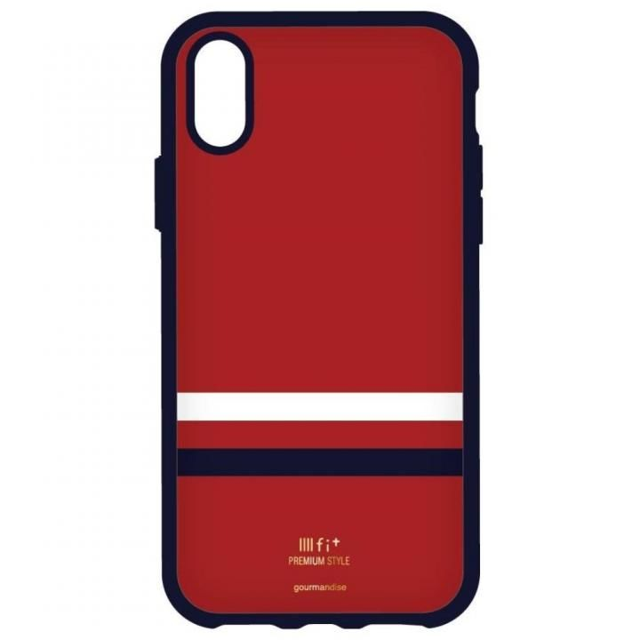 iPhone X ケース IIII fit Premium iPhone X レッド_0